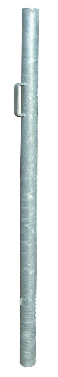 poteau 76 mm avec gâche pour verrou